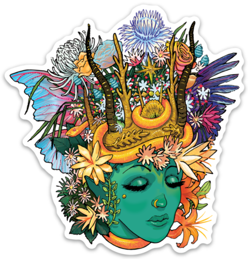 Gaia with crown