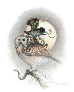 owl and leprechaun