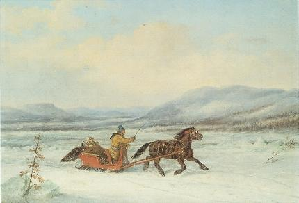'Sleigh_Ride',_oil_painting_by_Cornelius_Krieghoff