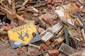 school in rubble