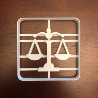 scales of justice cookie cutter