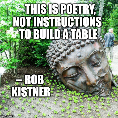 This is poetry not instructions to build a table by Rob Kistner