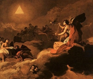 goya painting with triangle