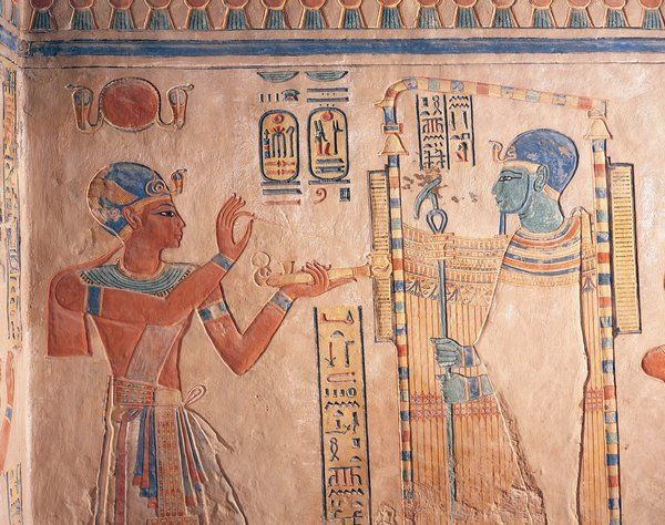 king rameses burning incense