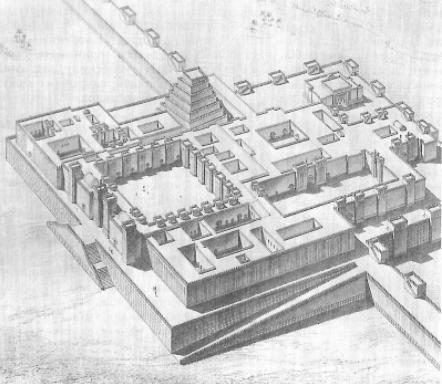 Sargon's fortress, including ziggurat