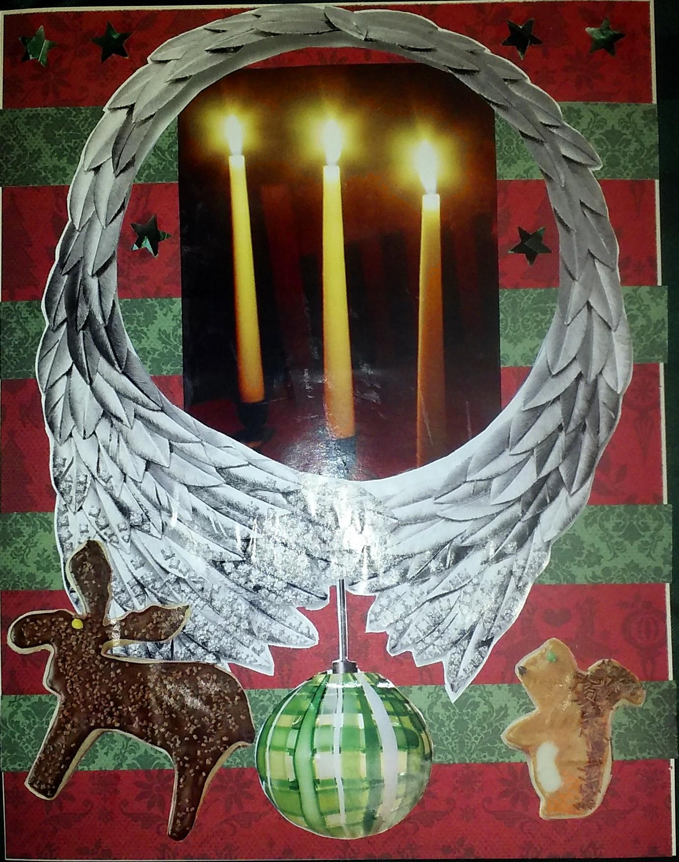 christmas collage for advent calendar 2020