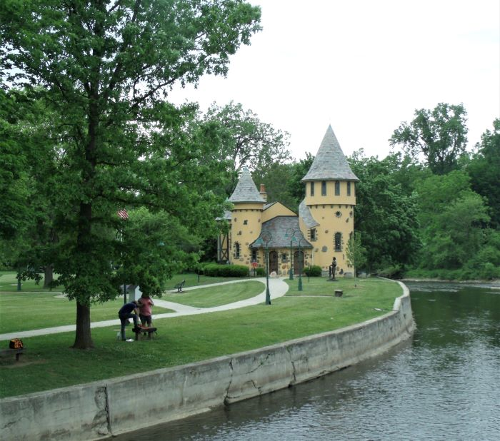 resized curwood castle from the suspension bridge over shiawassee river 060221