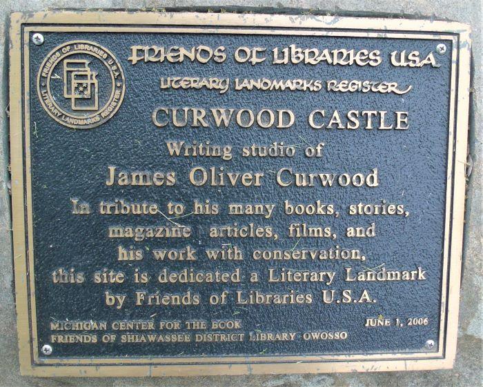 resized plaque about curwood castle literary heritage site 060221