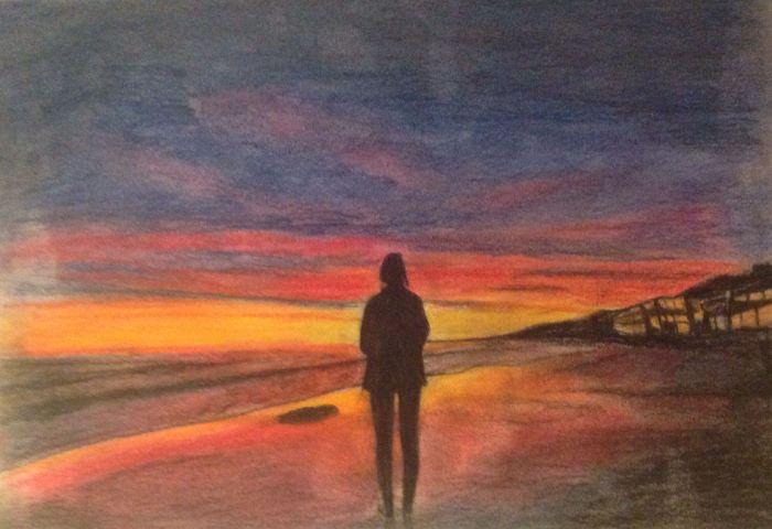 resized sunset alone