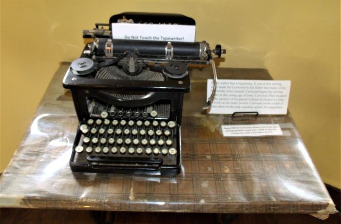 resized typewriter and old sewing machine table curwood's father set up for him as a child for writing 060221
