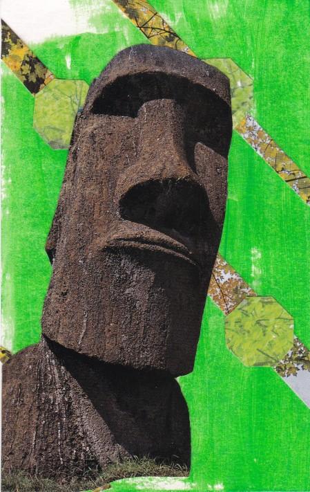 green easter island man